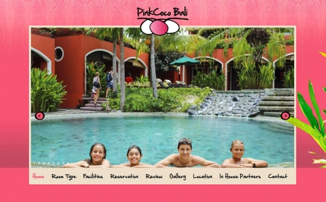 bali web design : pinkcoco : surf-accomodation-pink-coco