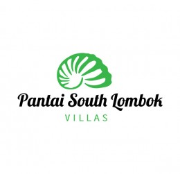 Pantai South Lombok Villas : villa logo : logo design : bali logo design