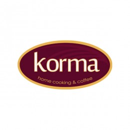 korma coffee shop : villa logo : logo design : bali logo design